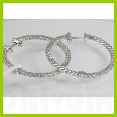 Genuine  1.52 ctw Diamond Earring 18KT White Gold