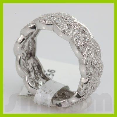 Genuine 0.56 ctw 18k Diamond White Gold Ring