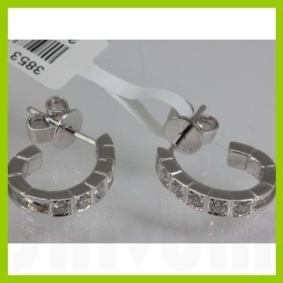 Genuine  0.43 ctw Diamond Earring 18KT White  Gold