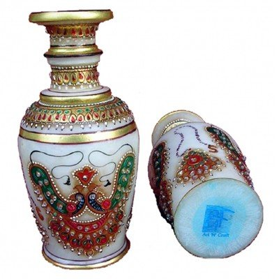 Marble Jewellery Vase  - Approx. Wgt. 7 kgs.