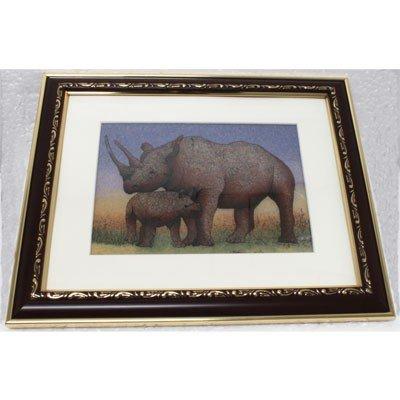 Gemstone Painting Rhinoceros