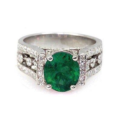 Genuine 3.24 ctw Emerald (Beryl) Ring 14k