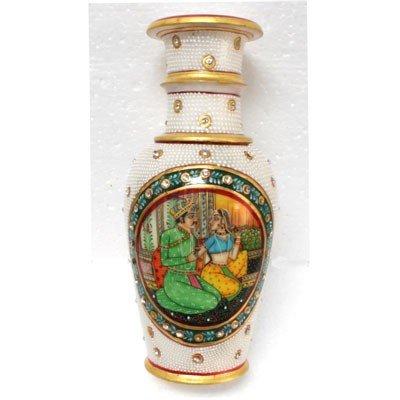 Marble  Vase King Akhbar Design (Green)