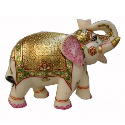 Marble Elephant Fine Gold Plated Approx. Wgt. 7 kgs.