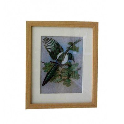 Gemstone Painting Bird 2  - Approx. Wgt. 2.5 kgs.