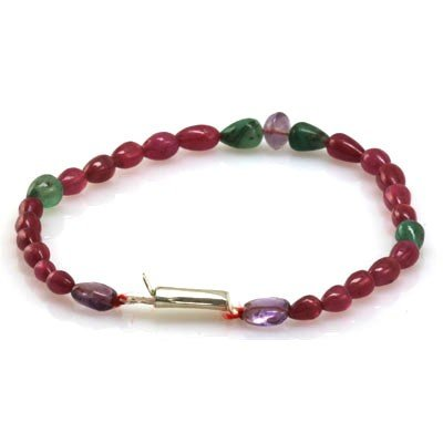 Natural Ruby, Emerald Amethyst Bracelet 39.11 ctw
