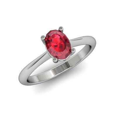 Genuine 3.15 ctw Ruby Ring 18k W/Y Gold