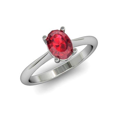 Genuine 2.20 ctw Ruby Ring 18k W/Y Gold