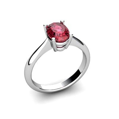 Genuine 0.55 ctw Garnet Ring 14k W/Y Gold