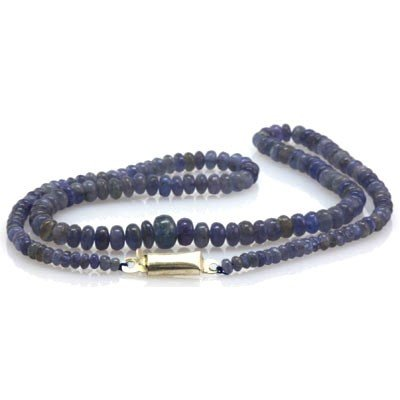 Natural Tanzanite Gradual Beads Necklace 71.75 ctw