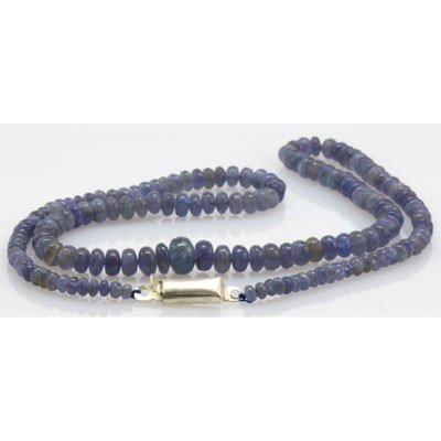 Natural Tanzanite Gradual Beads Necklace 89.30 ctw