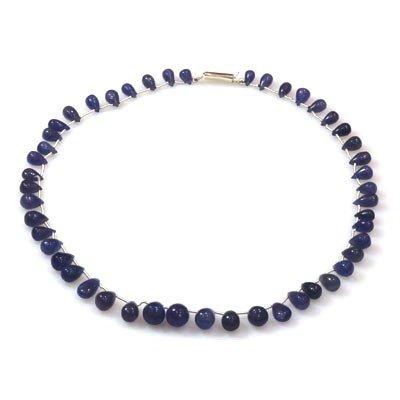 Natural Tanzanite Teardrop Beads Neckalce 141.25 ctw
