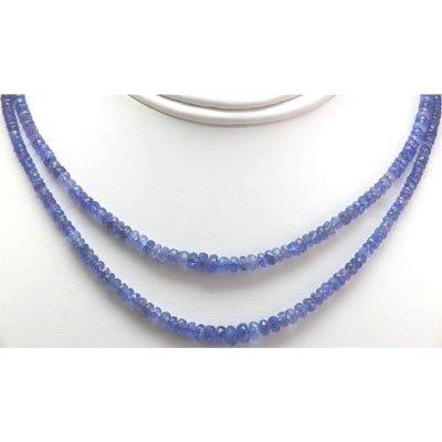Natural AA 2Row Tanzanite Graduated Necklace 130.95 ctw