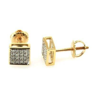 Genuine 0.14 ctw Round Cut Diamond Earring 10k