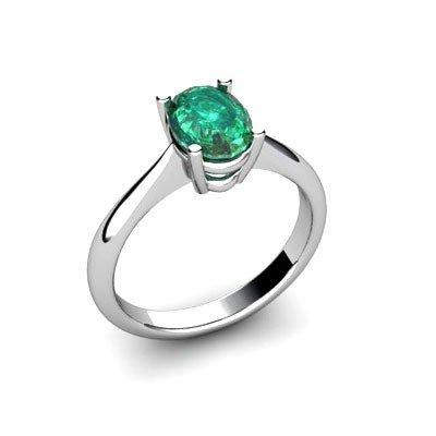Genuine 1.26 ctw Emerald Ring 14k W/Y Gold