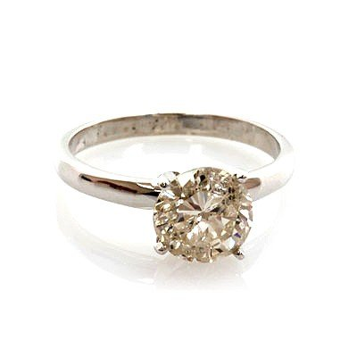Certified 2.11 ctw Diamond Solitaire Ring 14k WGold