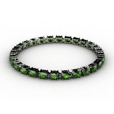 Genuine 19.0 ctw Peridot Bracelet 18k W/Y Gold 7g