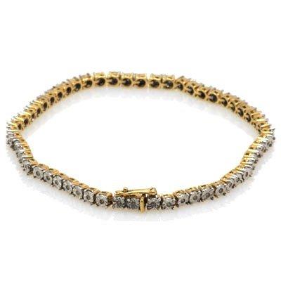 Genuine 1.00 ctw Diamond Tennis Bracelet 14k