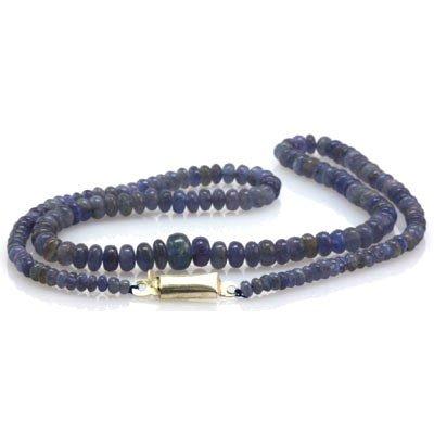 Natural Tanzanite Gradual Beads Necklace 70.00 ctw