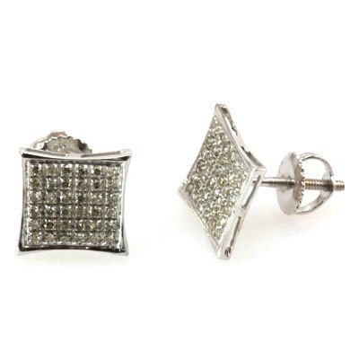 Genuine 0.26 ctw Round Cut Diamond Earring 10k