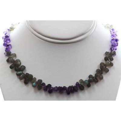 Mix Semi Precious Stone Necklace