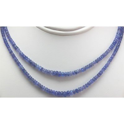 Natural AA 2Row Tanzanite Graduated Necklace 143.00 ctw