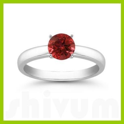 Genuine 1.60 ctw Ruby Solitaire Ring 14kt Gold-White