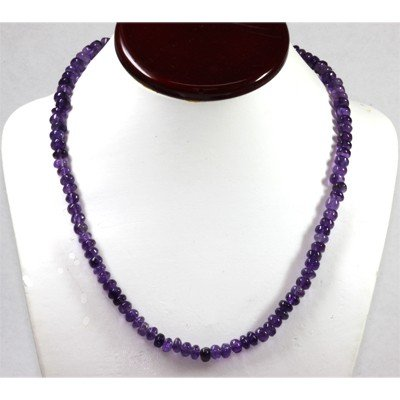 153.73 ctw  Amethyst Round Beads Necklace