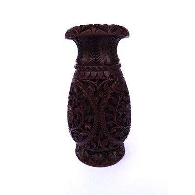 Natural Articrafts Wooden Flower Vase Rose Wood Color