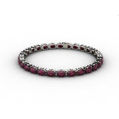Genuine 21.20 ctw Ruby Bracelet 18k W/Y Gold 7g