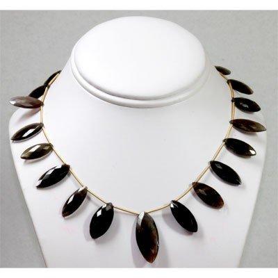 66.02 ctw Natural Black Laborite Amethyst Necklace
