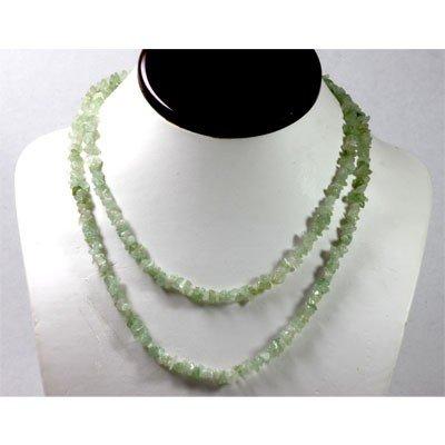 172.59 ctw Natural Aqua Un-cut bead Necklace