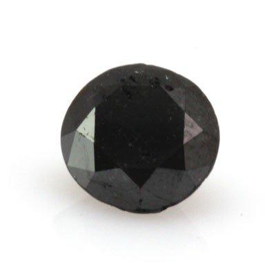 Natural Black Diamond Round Cut 1.30ctw