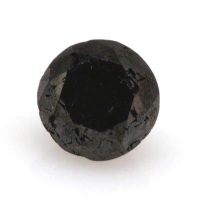 Natural Black Diamond Round Cut 2.35ctw