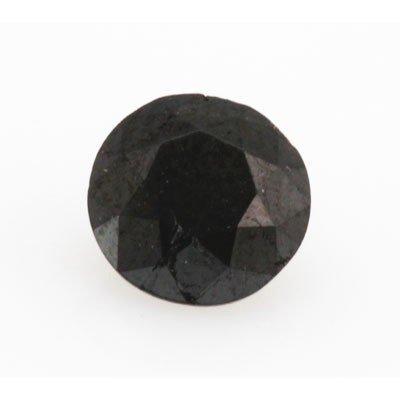 Natural Black Diamond Round Cut 1.00ctw