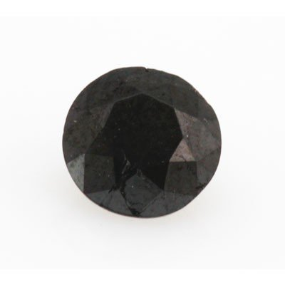Natural Black Diamond Round Cut 1.10ctw