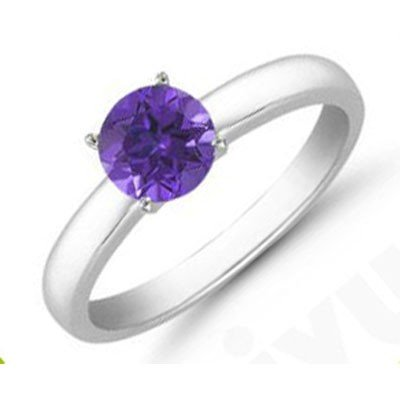 Tanzanite 1.75 ctw Solitaire Ring 14kt W/Y  Gold