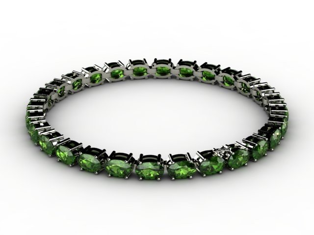 Genuine 11.96 ctw Emerald Bracelet 10k W/Y Gold,6.8g