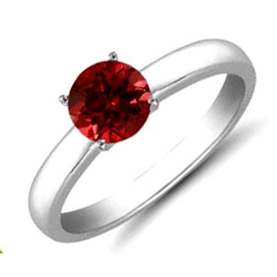 Ruby 1.41 ctw Solitaire Ring 14kt W/Y  Gold