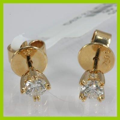 Genuine 0.495 ctw Diamond Stud Earring 18kt