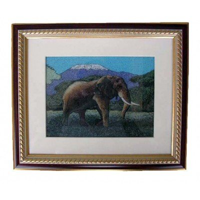 Gemstone Painting African Elephant