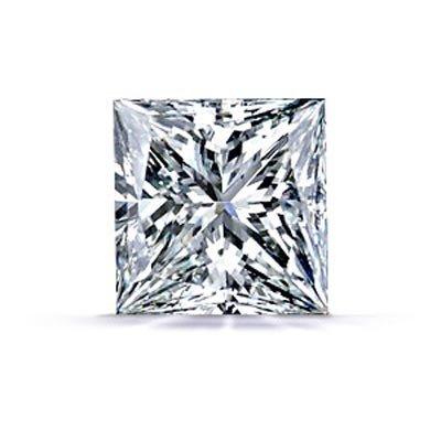 GIA Princess Certified 0.92ctw F SI-2 Square DIAMOND