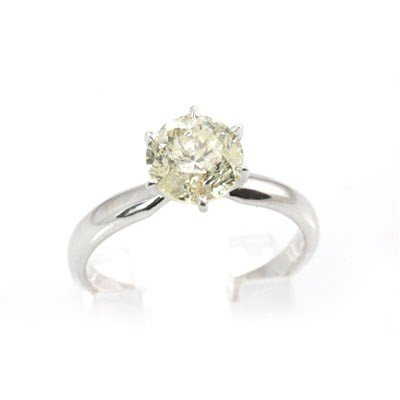 Genuine Solitaire Ring 1.6ctw & Diamond Ring 14KTGold