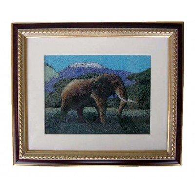 Gemstone Painting African Elephant