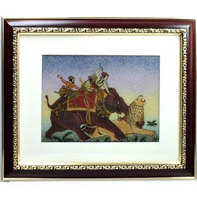 "Indian Beauty  4 Art Craft Gemstone Painting Dim 12x10"""