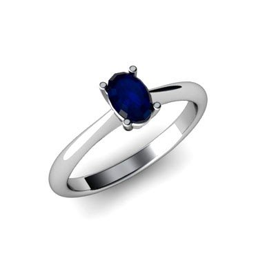 Genuine 1.55 ctw Sapphire Ring 14k W/Y Gold