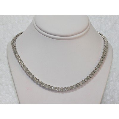 Genuine 5.30 ctw Diamond Necklace 18kt White Gold 51.35