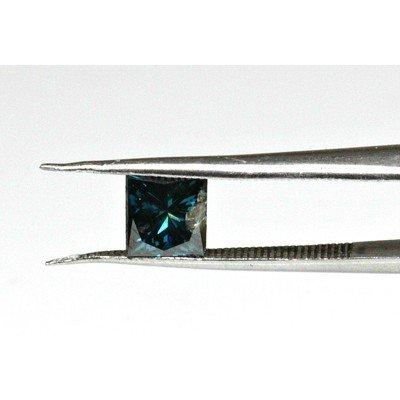 Genuine Blue Loose Diamond Princess Cut 0.63ctw