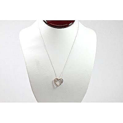 Heart Necklace Rose Gold .25 ctw 10kt