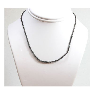 Natural 16.0 ctw Un-cut Diamond  Black  Bead Necklace